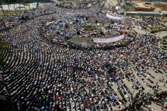Egyptian Revolution Prayer Time