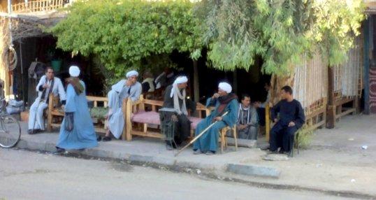 Egyptian Revolution Peaceful Quiet Village Cafe