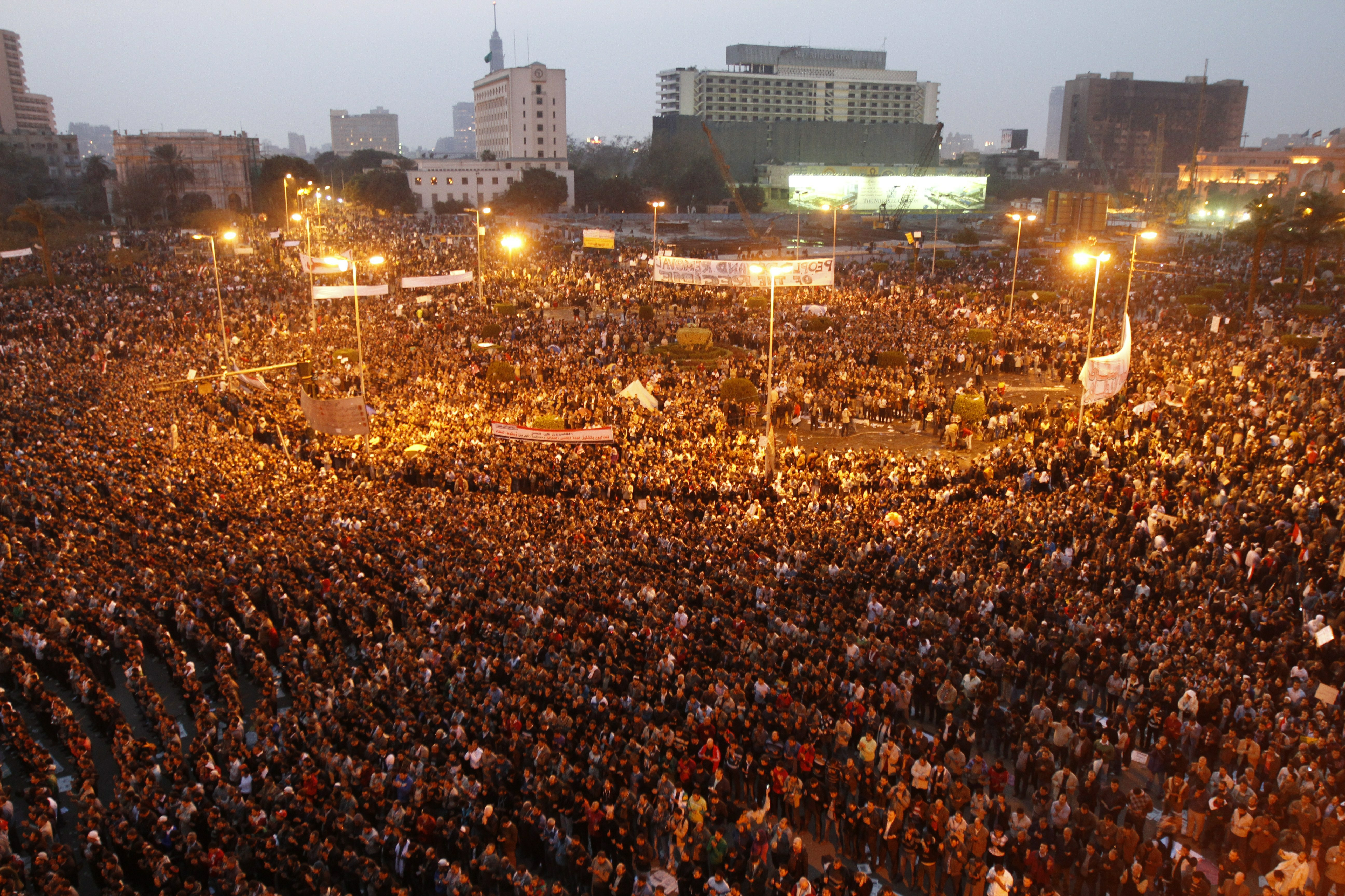 Egyptian Revolution Crowds in Tahrir Square